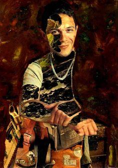 "Artist CARMEN LUNA; Assemblage / Collage, ""15-Collagemania Carmen Luna. Alejandro Sanz."" http://www.carmen-luna.com"