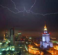 Forks of lightning splinter the sky during a thunderstorm in Warsaw, Poland, on June 20.