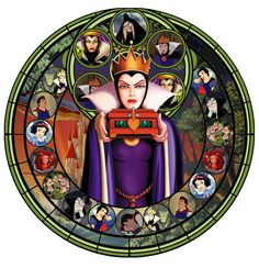 Stained Glass Disney   Stained Glass Evil Queen by IlSelma