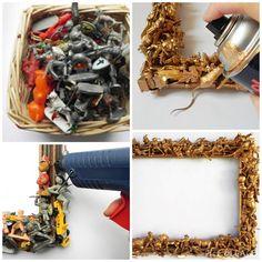 DIY - Spiegel aus alten Spielfiguren gestalten. Super cool und jedes Kind wird sich freuen!