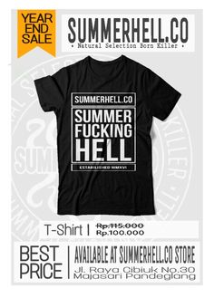 YEAR END SALE !!! SUMMER HELL.CO Clothing From Pandeglang Summerhellco #summerhellco #summerhellcloth