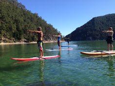 Chi Kung en el paraíso acuático de la Tina Menor Stand Up Paddle, Sup Yoga, Surfboard, The Dreamers, Spanish, Surfing, Paradise, To Go, Places