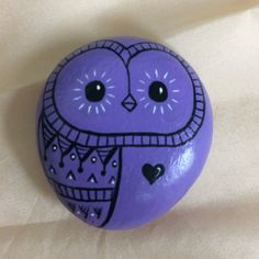 Stone - Owls - Hand Painted with acrylic paint 1.5.