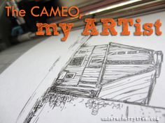Under A Cherry Tree: The Cameo, my ARTist : How to draw sketches with the Silhouette Cameo