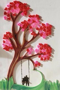 爱情的树下…衍纸