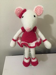 Hand Crafted Crochet Mouse  https://www.facebook.com/allthingsprettyforlittlegirls/