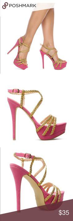 Platform sandal by scene Faux-suede platform sandal❤️ Scene Shoes Heels