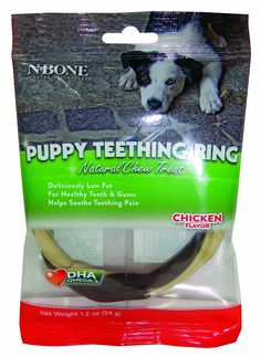 N-Bone Puppy Teething Ring, Chicken Flavor, Single ** Be sure to check out this awesome product.