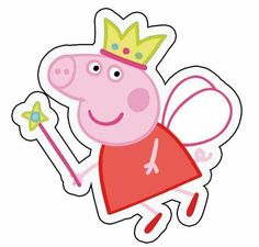 'peppa fairy' Sticker by asianqueen Invitacion Peppa Pig, Cumple Peppa Pig, Papa Pig, Peppa Pig Stickers, Peppa Pig Wallpaper, Peppa Pig Printables, Pig Crafts, George Pig, Pig Party