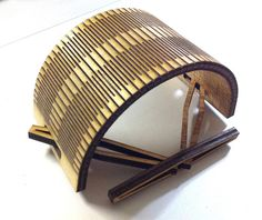 lasercut wood made into flexi structure