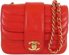 Chanel Vintage Red Quilted Mini Classic Bag