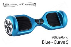 Glide Along Curve 5 - Blue - Self Balance Scooter.  For more information about Self Balance Scooters check out http://GlideAlong.com/Club to meet with others who already own these scooters. #GlideAlong