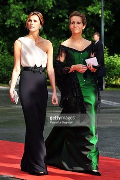 Princess Rosario of Bulgaria (L) and Princess Elena of Spain (R) and guest attend the Government Pre-Wedding Dinner for Crown Princess Victoria of Sweden and Daniel Westling at The Eric Ericson Hall on June 18, 2010 in Stockholm, Sweden.