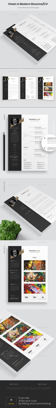 Resume Booklet Design Template InDesign INDD - 8 Custom Pages, A4 ...