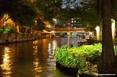 The San Antonio Riverwalk.