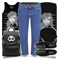 """School Style"" by madeinmalaysia ❤ liked on Polyvore featuring Disney, Freddy, UGG Australia, Levi's and Ralph Lauren"