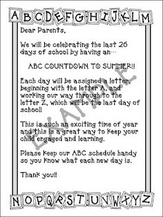 ABC Countdown to Summer!!