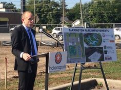 Work officially started on the new Tarkington Park Wednesday with a groundbreaking ceremony.  The project is seen as a cornerstone for an up-and-coming Indianapolis neighborhood.