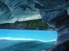 Hermosas cuevas de mármol en la Patagonia (Fotos) | Planeta Curioso