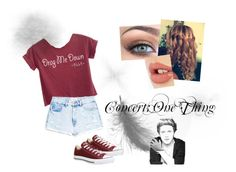 """""""Concert"""" by tashaniall ❤ liked on Polyvore featuring MANGO, Converse and Charlotte Tilbury"""
