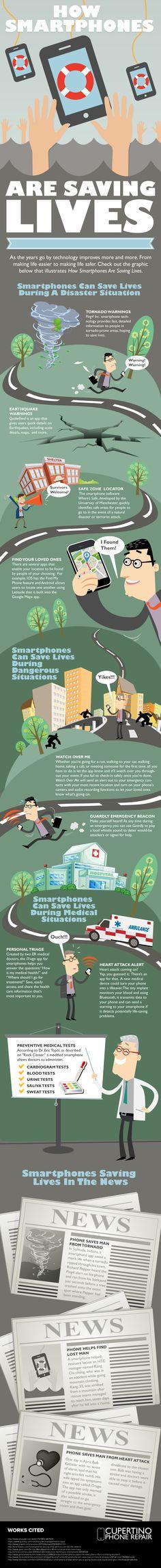 Cómo los #smartphones salvan vidas #infografia #infographic