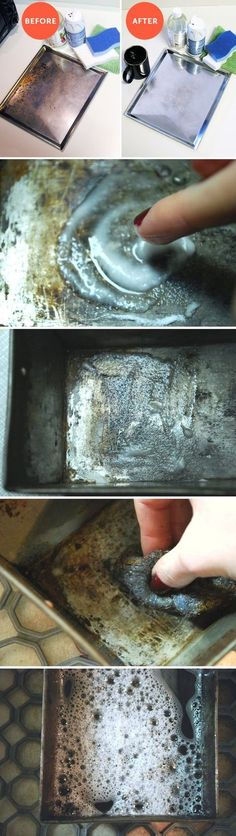 Pin this one for those times your bakeware is stained with food, grease and rust!