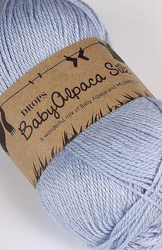 DROPS BabyAlpaca Silk (8112) lodowy błękit