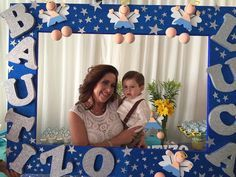 foto cool casero bautizo - Cerca amb Google Baptism Centerpieces, Baptism Decorations, Balloon Decorations, Christening Party, Baptism Party, Photo Booth Frame, Photo Booth Props, Shower Party, Baby Shower Parties