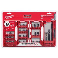 Milwaukee Shockwave Impact Duty Steel Driver Bit Set (55-Piece)-48-32-4014 - The Home Depot///////////$39.97