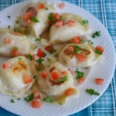 Homemade pierogies, great way to use up left over mashed potatoes More