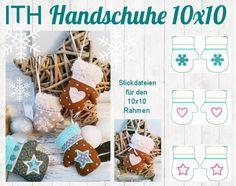 Stickmuster - ♥ ITH Stickdatei Handschuhe 10x10 ♥ - ein Designerstück von StoffCut bei DaWanda