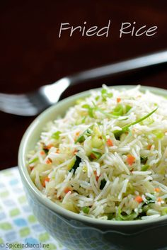 FRIED RICE RECIPE / FRIED RICE INDIAN STYLE / INDIAN STYLE SPICY FRIED ...
