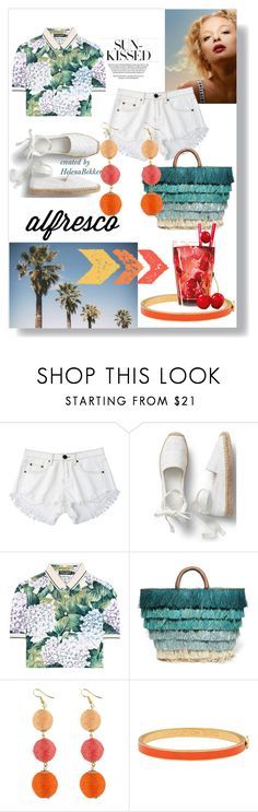 """#77SunKissed"" by helena-bekker ❤ liked on Polyvore featuring Dolce&Gabbana, Kayu and Halcyon Days"