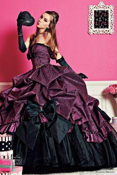 barbie bridal hot deep purple bordeaux wine wedding dress