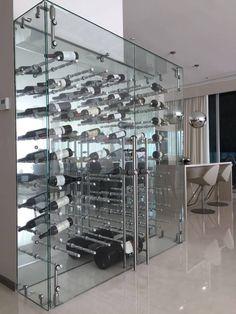 wine fridge,wine cellar,wine storage,wine rack,wine knowledg… – Wine World Wine Cellar Modern, Glass Wine Cellar, Wine Cellar Design, Wine Shelves, Wine Storage, Caves, Wine Cellar Innovations, Deco Restaurant, Wine House