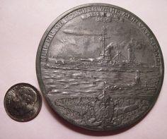 1914 Zeppelins as Part of The Navy Zeppelin Over Warships Large Medal 466 Zeppelin, Navy, Hale Navy, Old Navy, Navy Blue