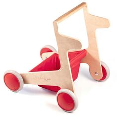 Red FLAP Toddler Push Cart | Half Pint Citizens