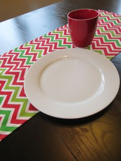 Holiday Table Runner in Red, Natural & Green by Premier Prints