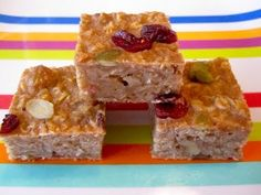 Healthy Breakfast Recipes: How to Make Oatmeal Bars On-The-Go pinned from Weelicious.com