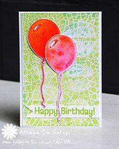 Card by Anneke De Clerck using Darkroom Door Party Time Rubber Stamp Set. http://www.darkroomdoor.com/rubber-stamp-sets/rubber-stamp-set-party-time