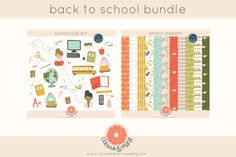 school clip art and digital papers by Citrus and Mint on @creativemarket