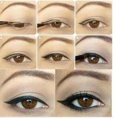 natural w/ wing eyeliner