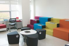 Support students' natural curiosity with collaborative spaces that spark conversation.