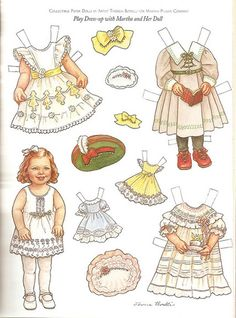 DRESS UP MARTHA AND HER DOLL and Dresses Artist Theresa Borelli for Martha Pullen Company