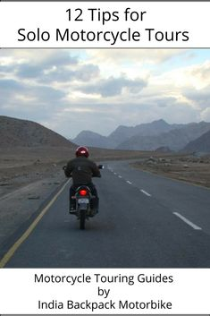 Going on motorcycling tour alone can be daunting. But worry not. Here's an ultimate list of tips for those solo motorcycle tours you've been itching to go on. Everything from packing to to start and finishing your ride and safety tips. Do click on link and read the blog post | #MotorcycleTouring #MotorbikeTours #SoloMotorbikeTouring