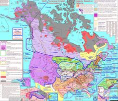 """We could spend hours looking at this and not get bored.  Self-described professional linguist and Christian missionary Rick Aschmann spent years creating this painstakingly detailed map of regional American and Canadian dialects."" - Web site"