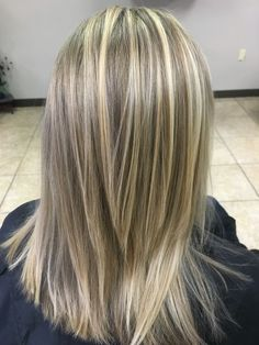 By Mangles N Tangles Salon Blonde Highlights On Dark Hair, Blonde Hair Looks, Brown Blonde Hair, Medium Hair Styles, Short Hair Styles, Thin Hair Haircuts, Cool Hair Color, Hair Today, Hair Lengths