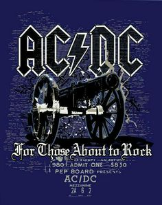 AC/DC For Those About to Rock by Matias Salinas, via Behance Hard Rock, Angus Young, Tour Posters, Band Posters, Bon Scott, Brian Johnson, Iron Maiden, Rock And Roll History, Ac Dc Rock