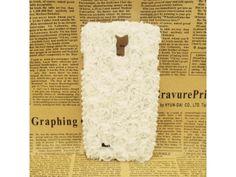 #3D Flower +Lace Samsung Galaxy #S4 Case (white)