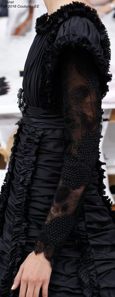 Chanel Fall 2016 Couture - Beautifully constructed, it does remind of Victorian mourning clothes.